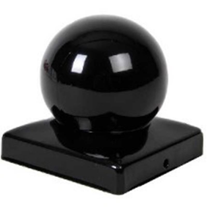 Waelbers Paalkap Met Bol zwart 71x71mm