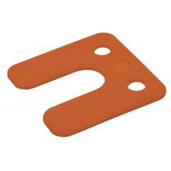 Drukplaat 34742 2mm Oranje Met Sleuf 48 Stuks