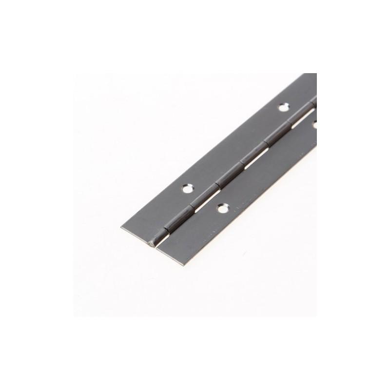 Holz Pianoscharnier 40x0,7mm 3,5M Geb mat RVS