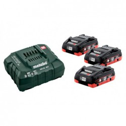 Metabo Accuset 18Vhd 3X4A + Lader Asc55