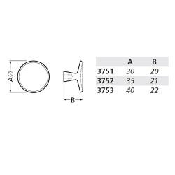 HERMETA SCHAALKNOP 3753 ROND 40MM F1