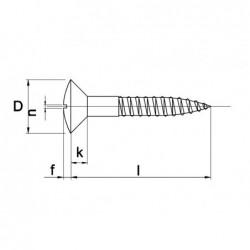 Houtschroef Din95 Lk 5X50Mm Ms - 200 stuks