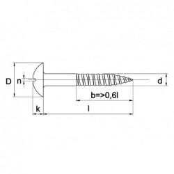 Houtschroef Din96 Bk 4X30Mm Ms Vern - 200 stuks