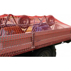 AFDEKNET 250X450CM MAAS 40MM PP ROOD
