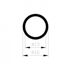 Buis Rond 16X13Mm Alu 1M