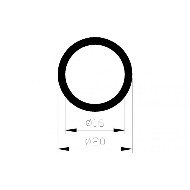Buis Rond 20X16Mm Alu 1M