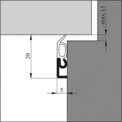 Ellen Tochtstrip Elro Xl-Wt 300Cm Alu Ac