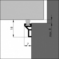 Ellen Tochtstrip Ats-Borstel 230Cm Alu