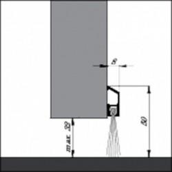 Dorpelstrip Ibs-Borstel 300Cm Alu