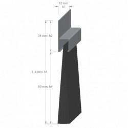 Afdichtborstel Ah8 H-Prof 80Mm Nylon 3M - 3 Lengte