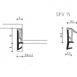 Dichting Spv15 Zwart Z Folie - 150 Meter