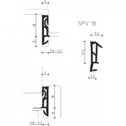 Dichting Spv18 Zwart Z Folie - 150 Meter