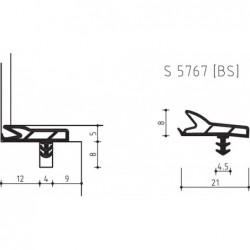 Deurdichting S5767Bs Zwart - 13 Meter