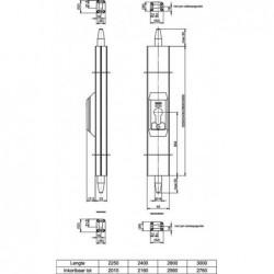 Nemef Opbouwespagnolet 5092/13 F1 Z/Cil 3* 2250mm