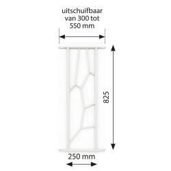 Secubar Siertralie Deco2 Wit 280-825mm