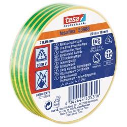 Isolatieband 19mm x 20M Groen/Geel