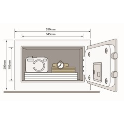 Yale Security Compact Safe kluis YSB/200/EB1