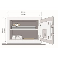 Yale Security Home Safe kluis YSB/250/EB1