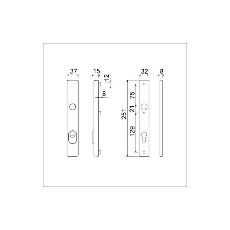 AMI VHB 251/37 smalschild Kerntrekbeveiliging KT55 PC55 F1