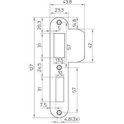 NEMEF SLUITPLAAT P1266/17U D+N RVS