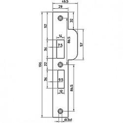 NEMEF Sluitplaat P4119-17T D+N RVS D1