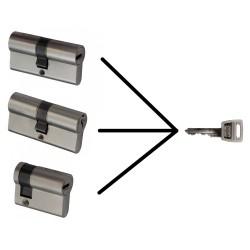 Cilinders gelijksluitend maken