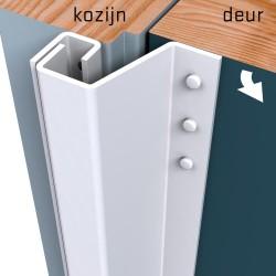 Secustrip Plus Achterdeur 211cm 14-20mm Budr 1* wit