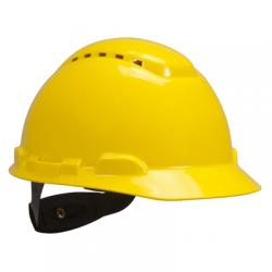 Peltor bouwhelm h700n korte klep geel