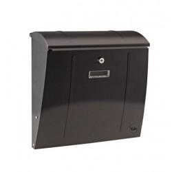 Yale brievenbus Delaware zwart staal