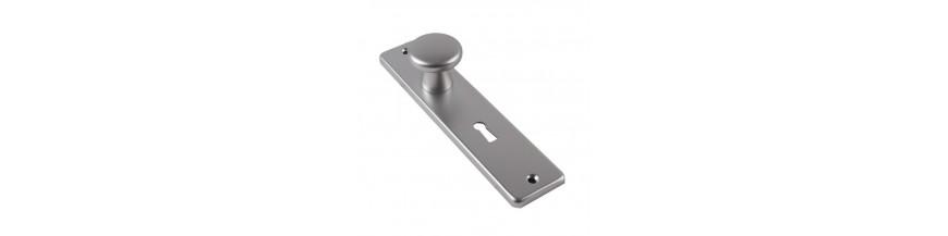 Knopkortschild aluminium