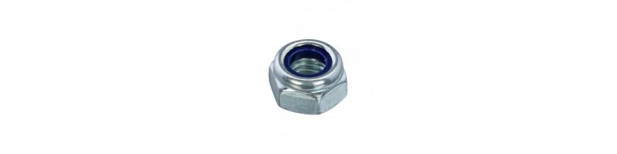 Zeskant borgmoer DIN 985 staal 6-8 verzinkt