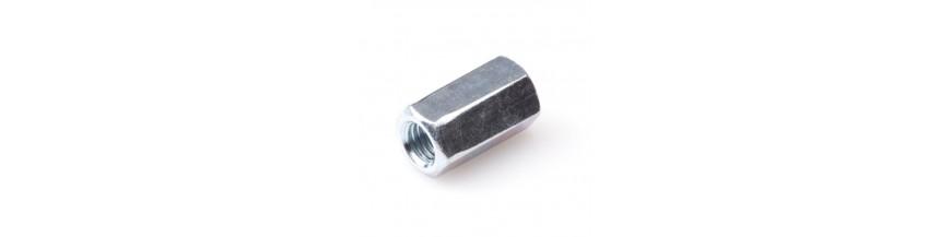 Zeskant verbindingsmoer DIN 6334 verzinkt