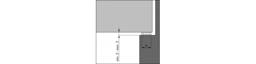 Tochtprofiel inbouw zelfklevend EPDM