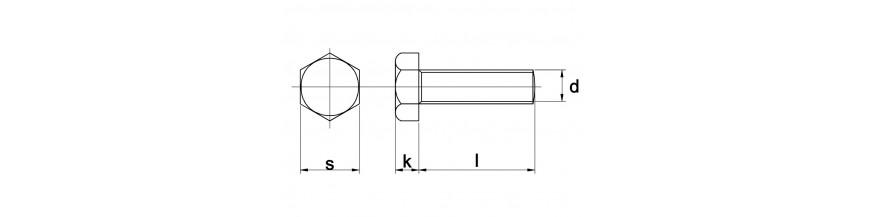 Zeskanttapbout DIN 933 8.8 thermisch verzinkt