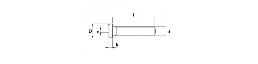 Metaalschroef ck zaagsnede DIN 84 RVS A4