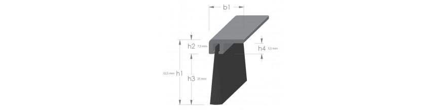 Tochtprofiel opbouw met borstel aluminium